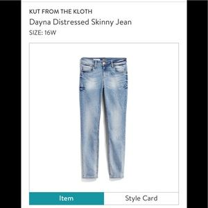Kut from the Kloth Distressed Skinny Jean